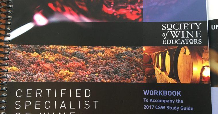 ◆ご案内◆ CSW (米国ワイン資格)検定対策