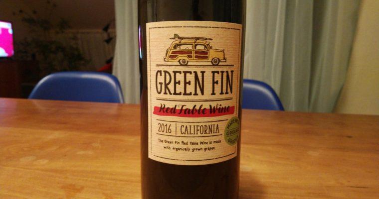値段が手頃なカリフォルニアのオーガニックワイン Green Fin Red Table Wine