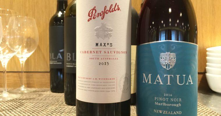 カルフォルニアで南半球のワイン飲み比べ