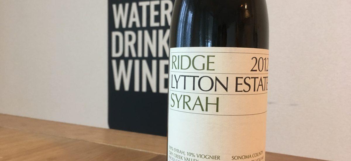 インドにも影響を与えたカリフォルニアのワイナリー Ridge VineyardsのSyrah