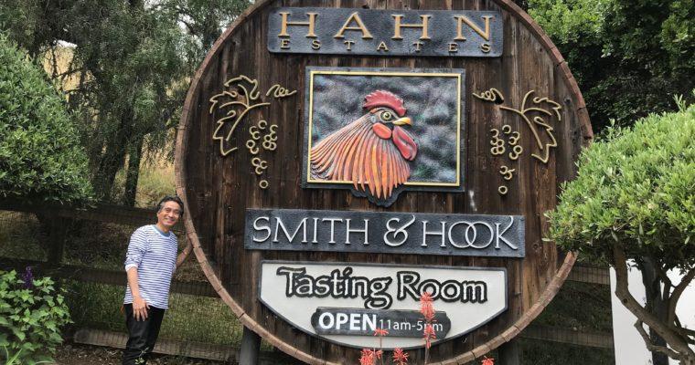 カリフォルニア・サリナス渓谷の絶景の中でワインテイスティング Hahn Family Winery