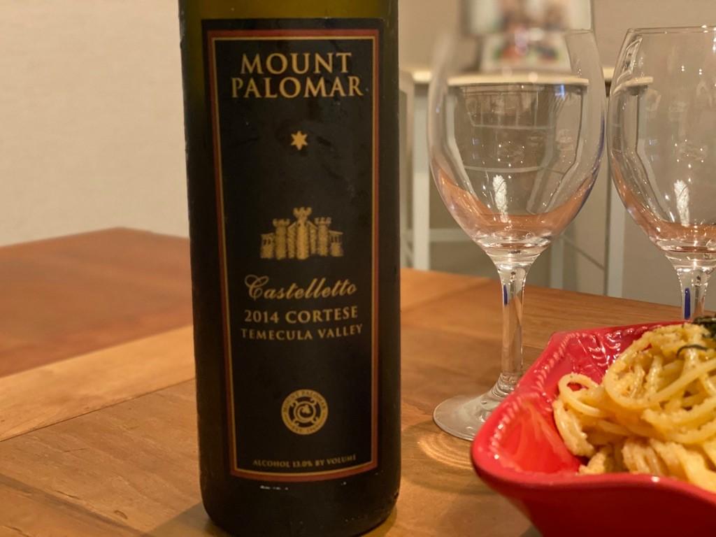 このカリフォルニアワインは飲みやすい!Mout Palomar Wineryのコルテーゼ